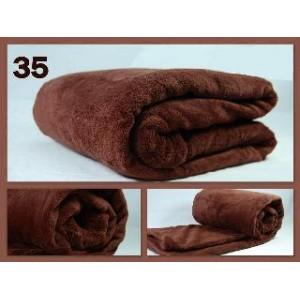 Luxusní deky z mikrovlákna rozměr 160 x 210cm hnedá č.35