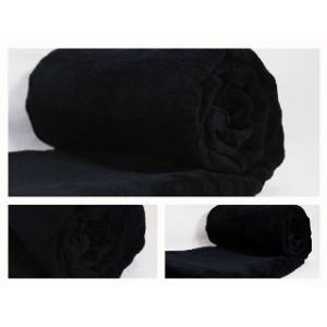 Luxusní deky z mikrovlákna rozměr 160 x 210cm čierna č.43
