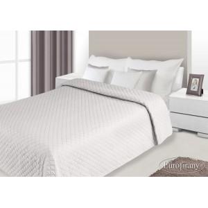 Přehozy na postele bílo-hnědé barvy s prošívaným vzorem