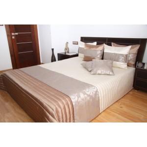 Béžové luxusní prošívané přehozy na postele