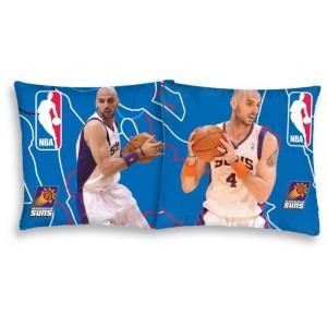 Modrý povlak na polštář s basketbalistou NBA