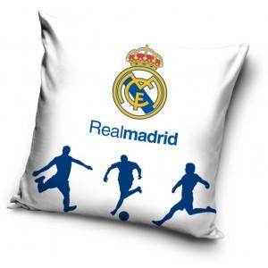 Bavlněný povlak na polštář bílé barvy REAL MADRID