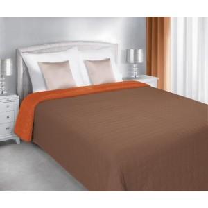 Oranžově hnědý přehoz na postel