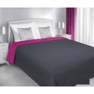 Oboustranný přehoz na postele šedě růžové barvy