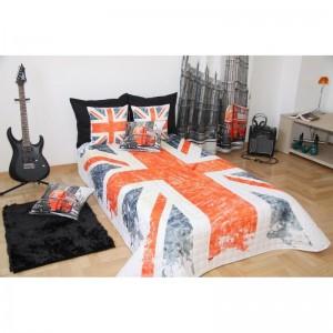 Přehoz na postel pro děti vzor velká británie