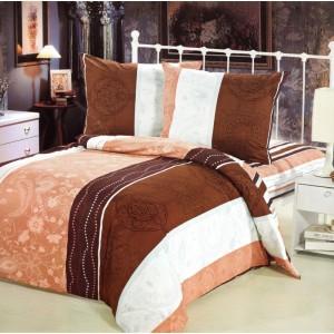 Pruhované povlečení na postele s barevnými pásy