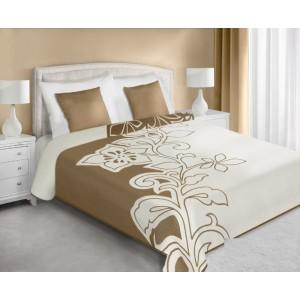 Oboustranný přehoz na postel v krémově béžové barvy