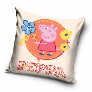 Růžový povlak na polštář s motivem prasátka PEPPA