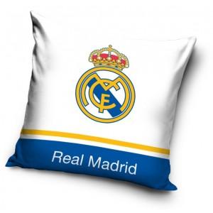 Real Madrid povlak na polštář bílo modré barvy