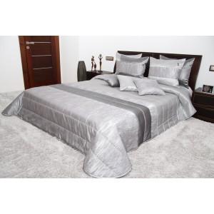 Přehoz na postel stříbrné barvy