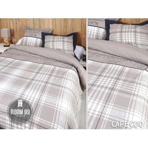 Moderní povlečení na postel hnědo bílé barvy