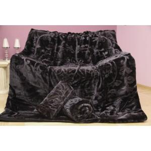 Přikrývky na sedačky v černé barvě
