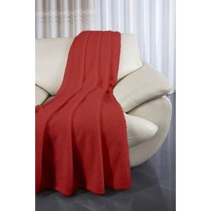 Přehozy na sedací soupravy v červené barvě