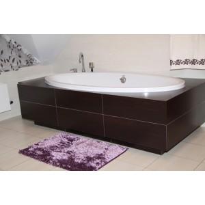 Moderní koupelnové předložky fialové barvy