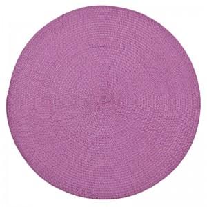 Kruhové kuchyňské prostírání růžové barvy na stůl