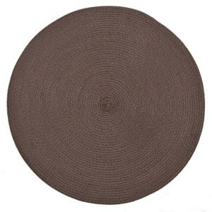 Stylové kruhové prostírání hnědé barvy na stůl