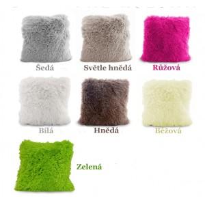 Moderní chlupaté povlaky na polštář