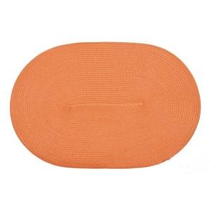 Oválné oranžové prostírání pod talíře