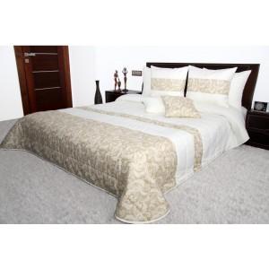 Luxusní krémově béžové přehoz na manželskou postel