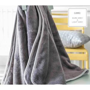 Luxusní francouzské deky v šedé barvě se světle šedým lemováním do postýlky