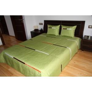 Luxusní přehozy na postel v olivové barvě