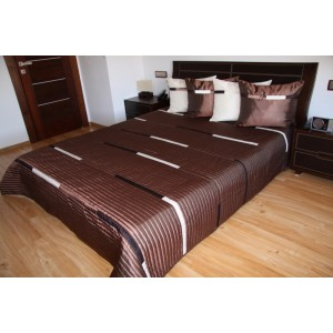 Luxusní přehozy na postel v hnědé barvě