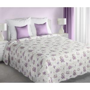 Květinové bílé přehozy a deky oboustranné na postel