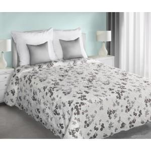 Květinové přehozy na manželskou postel v krémové barvě