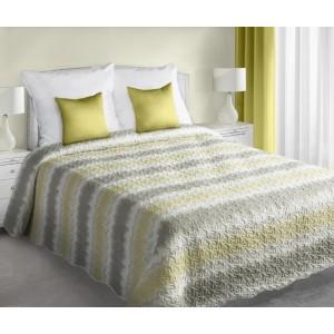 Luxusní a moderní bílé přehozy oboustranné na postel s páskovým motivem
