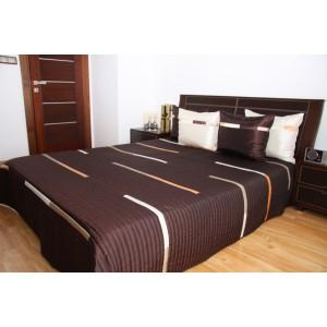 Luxusní přehozy na postel v čokoládové barvě