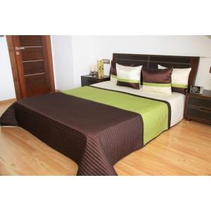 Luxusní přehozy na postel v zeleno hnědé barvě