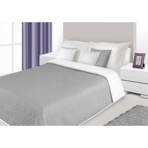 Oboustranné přehozy přes postel v šedo bílé barvě