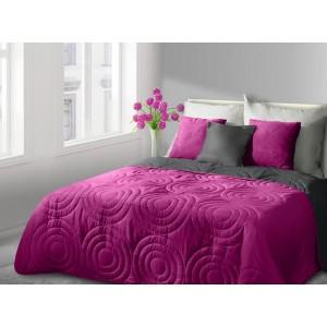 Luxusní a moderní růžové přehozy oboustranné na postel