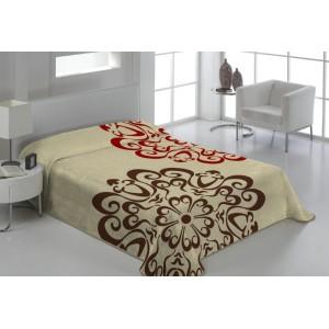 Denní béžová deka na postel