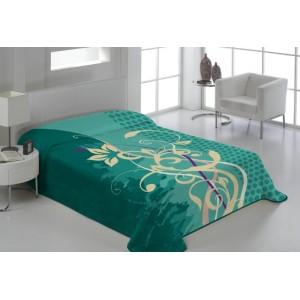 Tyrkysové deky na postele s ornamentem