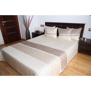 Luxusní přehozy na postel v béžové barvě s ornamentem