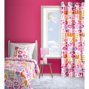Prošívaný oboustranný přehoz do dětského pokoje růžové barvy