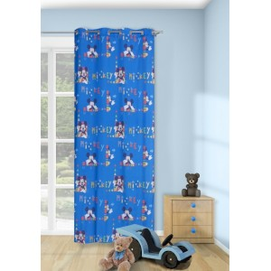 Modrý závěs do dětského pokoje s motivem Disney Mike