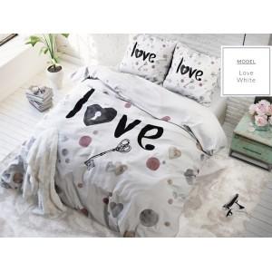 Romantické ložní povlečení bílé