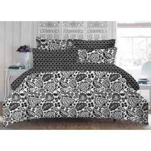Souprava ložního povlečení v černo bílé barvě vintage 160 x 200