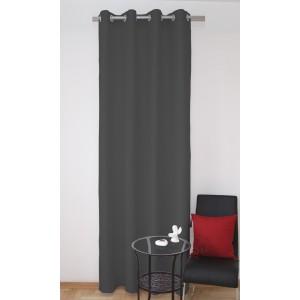 Tmavě šedé okenní závěsy k přehozem
