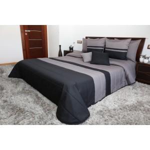 Prošívané šedě černé přikrývky na postel