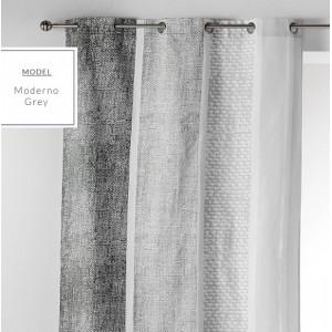 Hotové dekorační závěsy v šedé barvě