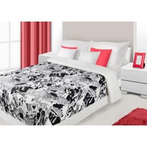 Stylové přehozy na dětskou postel bílo černé