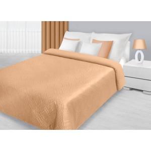 Oranžové dekorační přehozy na postel s prošívaným vzorem
