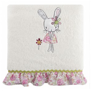 Bavlnené krémové osušky s dětským motivem