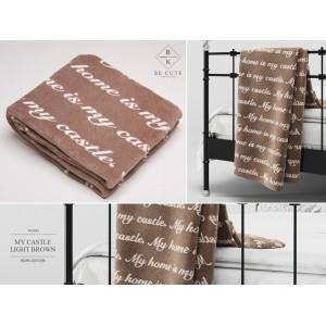 Luxusní plyšové deky v hnědé barvě