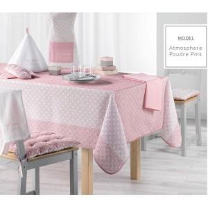 Růžový ubrus na obdélníkový stůl se vzorem