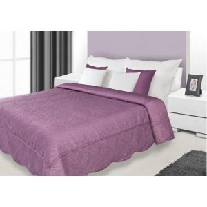 Luxusní fialový přehoz na manželskou postel
