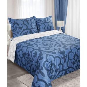 Modré povlečení 200x220 cm s ornamenty